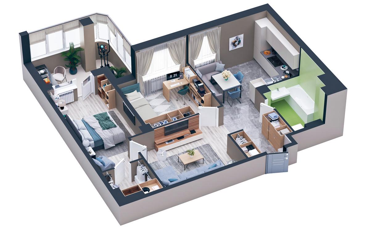 Однокомнатные квартиры от 2 069 200р
